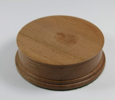 Elm Hand Turned Model / Trophy Base 30mm high with a display area of 90mm