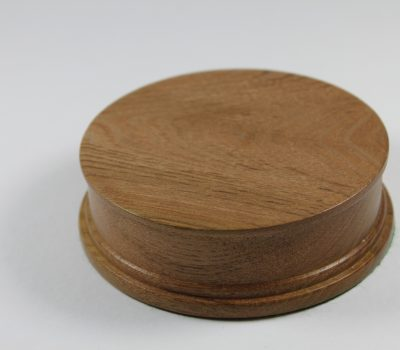Elm Hand Turned Model / Trophy Base 30mm high with a display area of 91mm