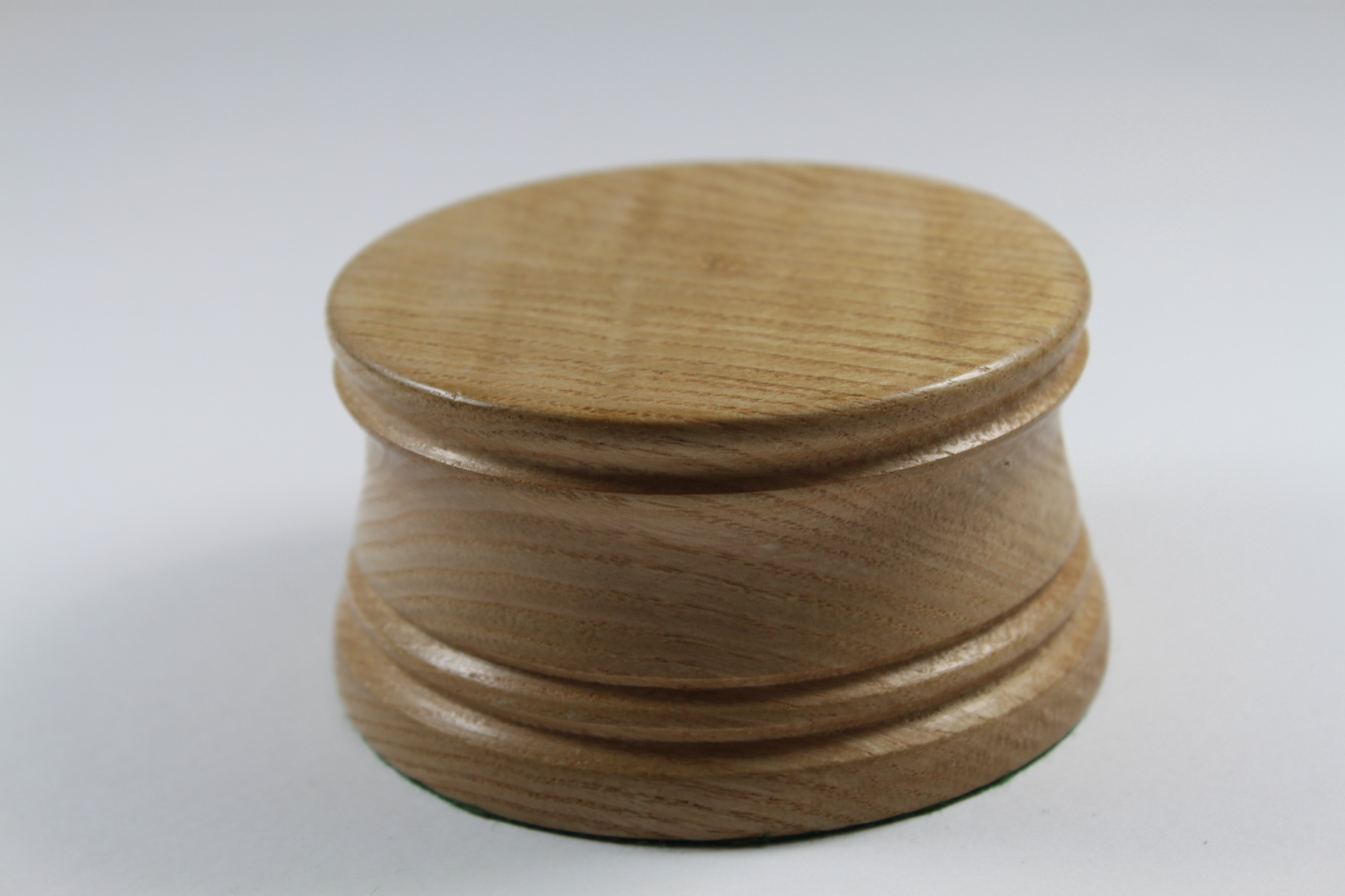 Solid Oak Model / Trophy Base 50mm High with a display area of 90mm