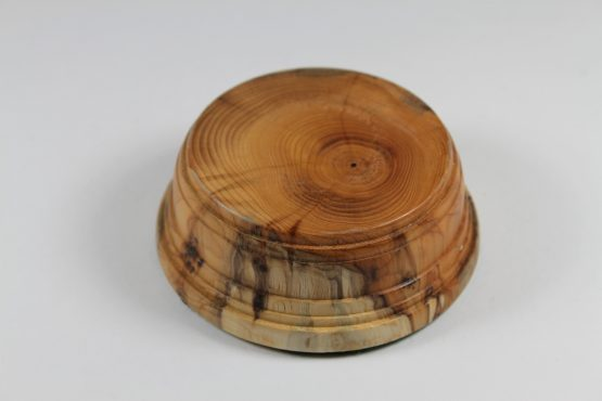 Solid Yew Base 30mm high with a display area of 70mm