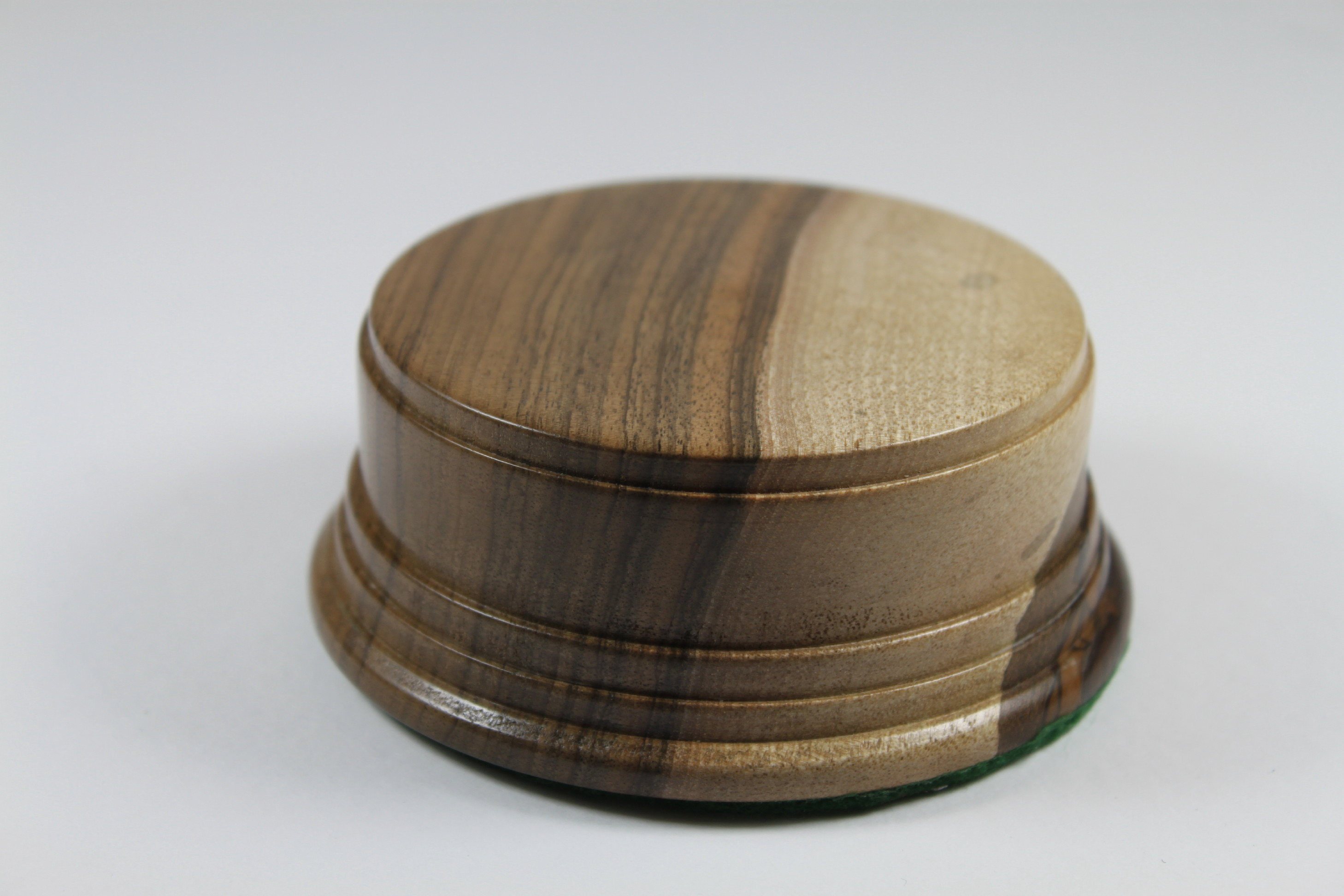 A Solid Wallnut Hand Turned Model / Trophy Base 40mm High and a display area of 82mm Diameter
