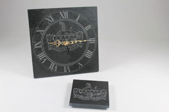 Gloucestershire Regiment Freestanding Slate Clock 20cm x 20cm x 10mm