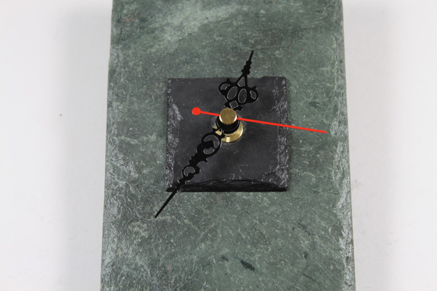Green Slate Oblong Wall Clock