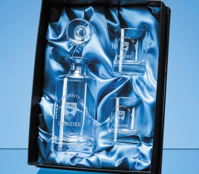Mini Decanter Set Satin Lined Presentation Box