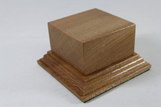 Solid Oak Plinth 75mm x 75mm x 40mm High