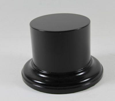 Black MDF round plinth Base 75mm Diameter x 50mm High