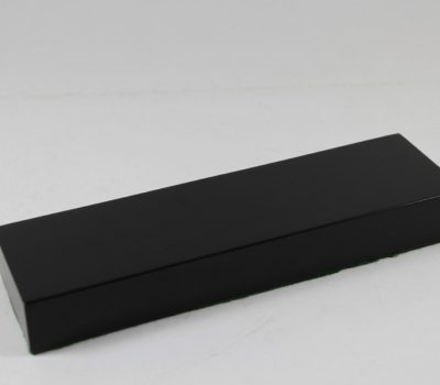 Black Rectangular Solid Wood Oblong Base 52mm x 177mm x 22mm