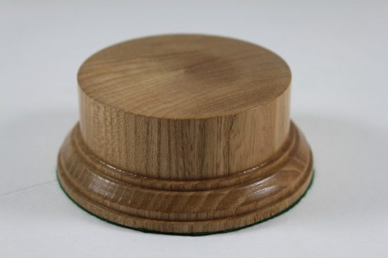 Oak Display Plinth 81mm diameter x 38mm high