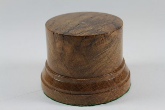 Oak Display Plinth 84mm diameter x 73mm high