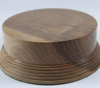 Walnut Display Plinth 125mm diameter x 50mm high