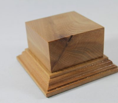 Solid Oak Plinth 75mm x 75mm x 40mm High
