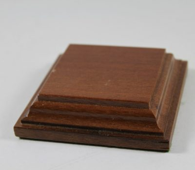 Flat Square Base Solid Mahogany 80mm x 80mm x 20mm Thick