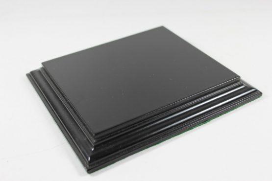 Black Rectangular Flat Base 135mm x 120mm x 18mm