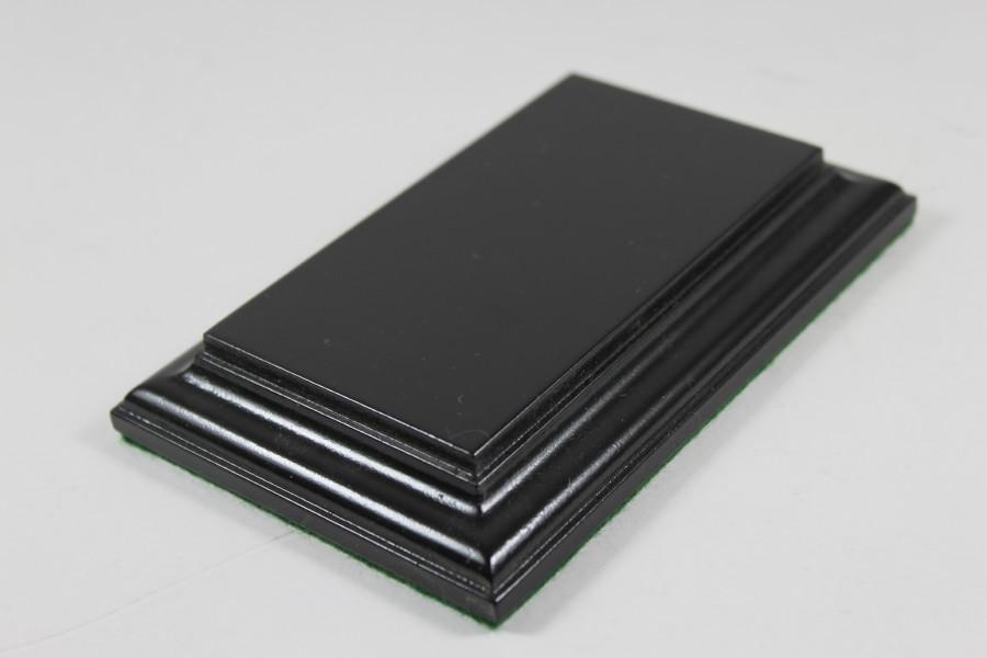 Black Rectangular Flat Base 103mm x 57mm x 18mm
