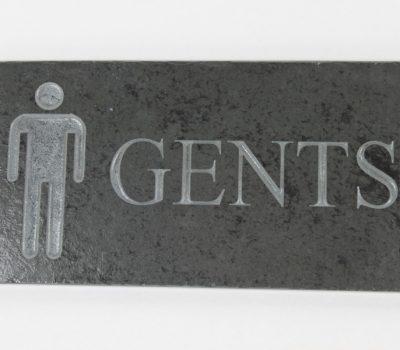 Gents Toilet  Door Plate 9cm x 25cm x 10cm