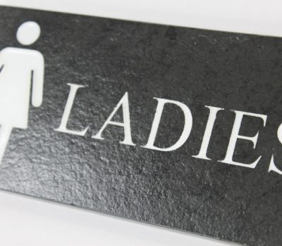 Ladies Toilet Door Plate 9cm x 25cm x 10cm