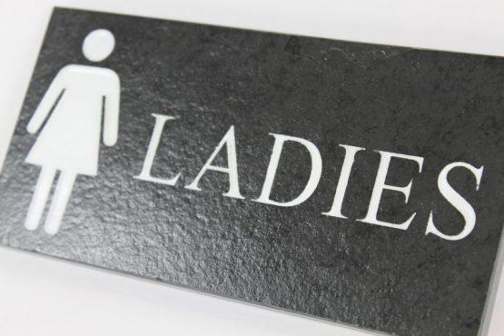 Ladies Toilet Door Plate 9cm x 25cm x 10cm