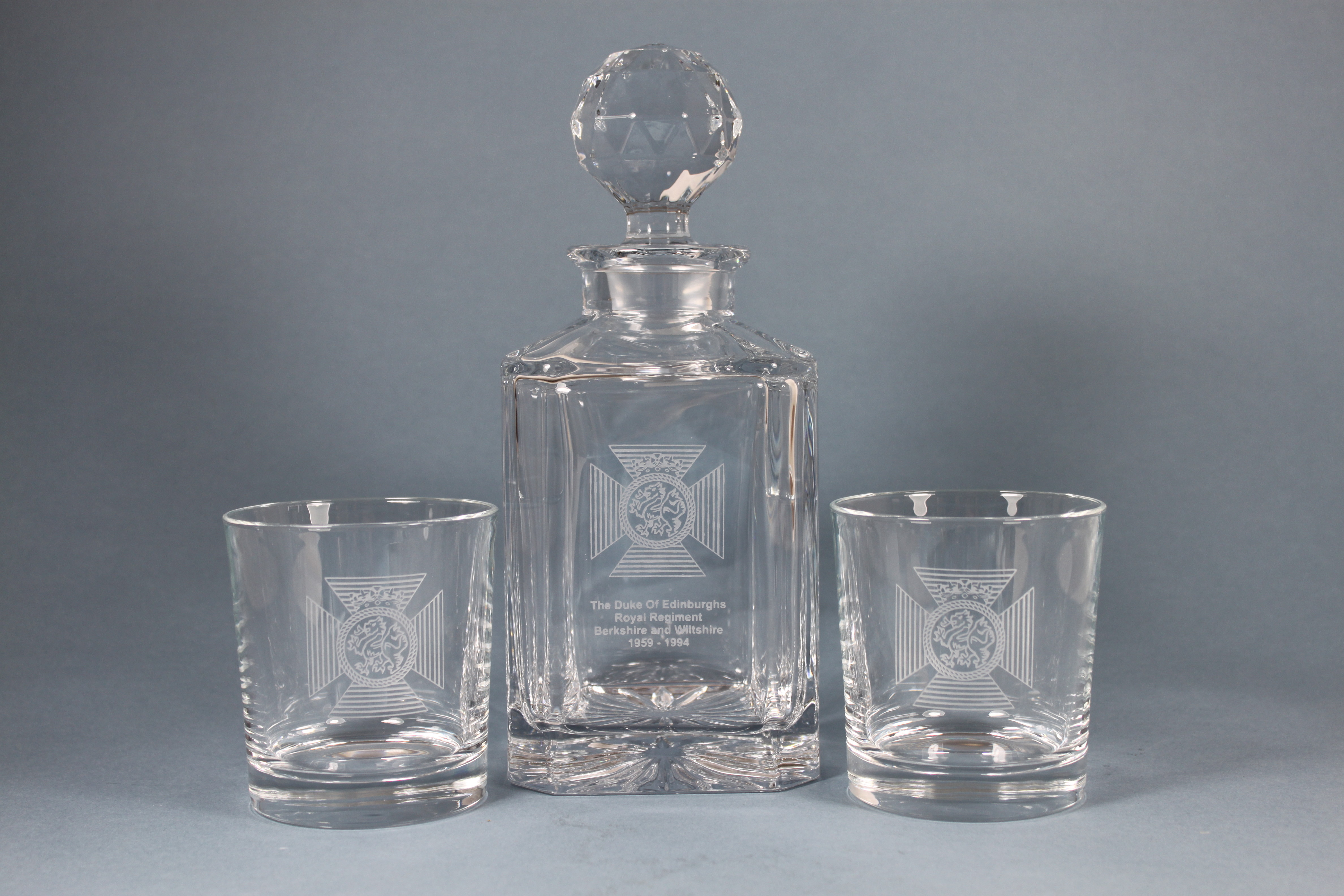 The Duke Of Edinburghs Royal Regiment Decanter Gift Set
