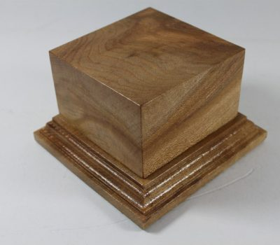 Solid Oak Square Plinth 90mm x 90mm x 55mm high
