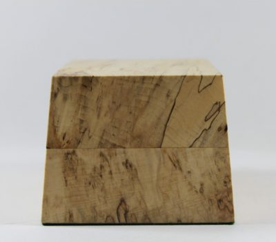 Spalted Lime Base with Sloping Sides 125mm x 90mm x 75mm High