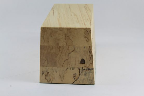 Solid Spalted Lime Base with Sloping Sides 150mm x 90mm x 110mm High