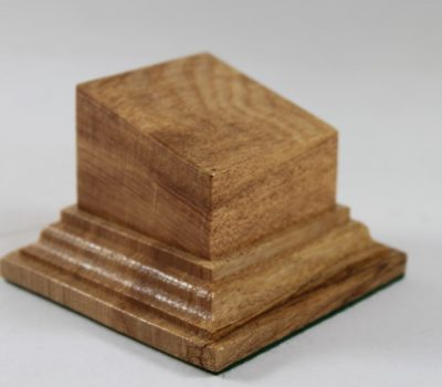 Oak Square Plinth with Sloping top 50mm x 50mm x 35mm High