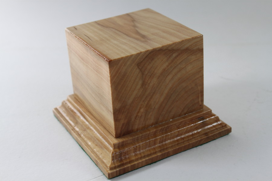 Ash Square Plinth 75mm x 75mm x 57mm High