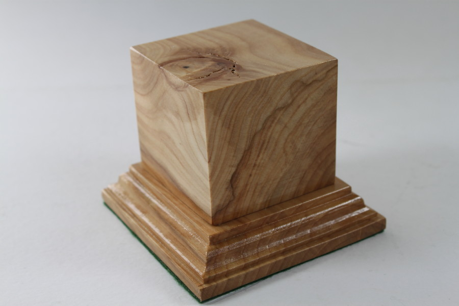 Ash Square Plinth 60mm x 60mm x 55mm High