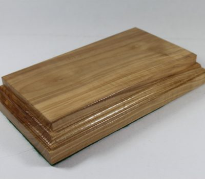 Solid Ash Raised Plinth Base 98mm x 180mm x 35 mm Thick