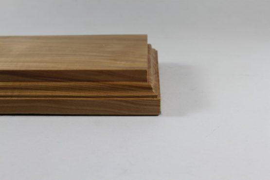 Solid Ash Raised Plinth Base 98mm x 180mm x 35 mm Thick