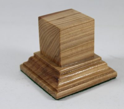 Ash Square Plinth 35mm x 35mm x 35mm