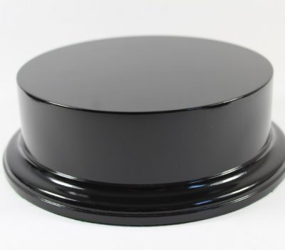Gloss Black MDF Round Base 45mm Upstand and 180mm Diameter Display Area 200039