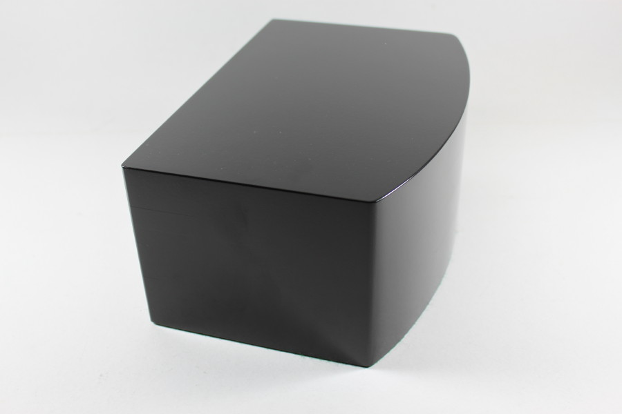 A Black Trophy or Diorama Base with Curved Front Edge