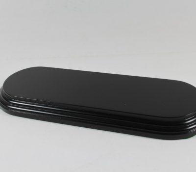 Black Oval Base 70mm x 225mm x 18mm