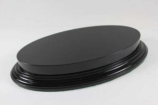 Black Oval Base With Upstand 105mm x 215mm x 18mm