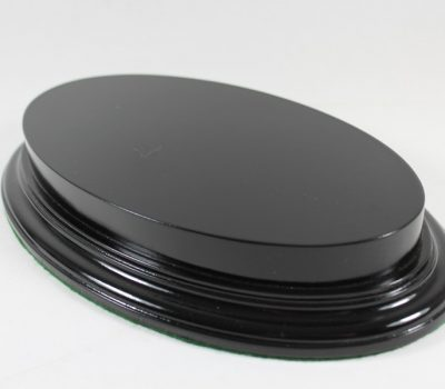Black Oval Base With Upstand 115mm x 215mm x 18mm