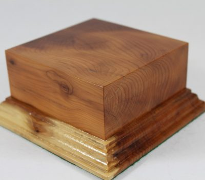 Yew Square Plinth Model Base 98mm x 98mm x 40mm 655