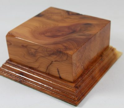 Yew Square Plinth Model Base 98mm x 98mm x 40mm 656