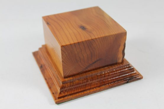 Yew Square Plinth Model Base 70mm x 70mm x 35mm 657