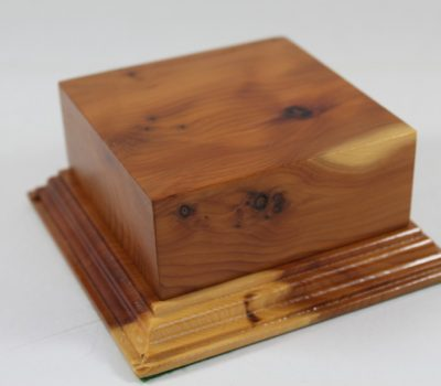 Yew Square Plinth Model Base 98mm x 98mm x 40mm 658