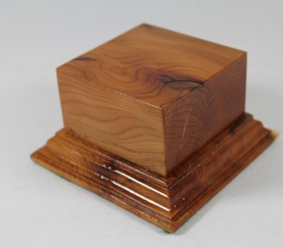 Yew Square Plinth Model Base 70mm x 70mm x 35mm 659