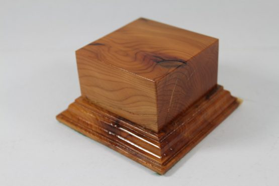 Yew Square Plinth Model Base 70mm x 70mm x 35mm 659