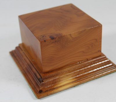 Yew Square Plinth Model Base 70mm x 70mm x 35mm 662