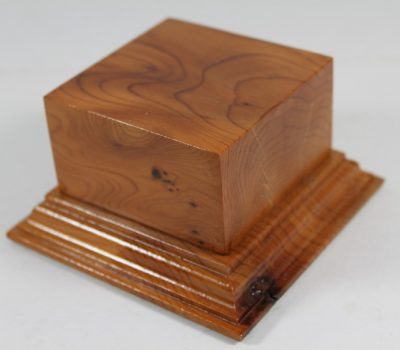 Yew Square Plinth Model Base 70mm x 70mm x 35mm 663