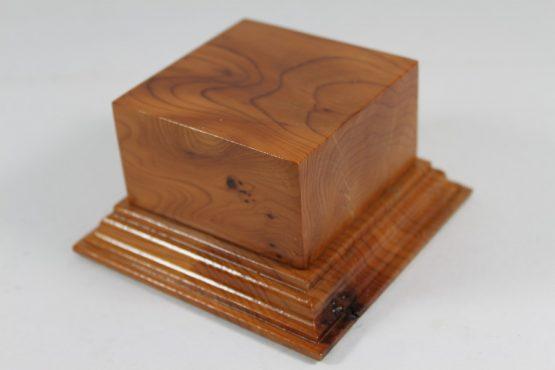 Yew Square Plinth Model Base 70mm x 70mm x 35mm 663