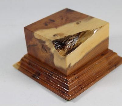 Yew Square Plinth Model Base 70mm x 70mm x 35mm 664