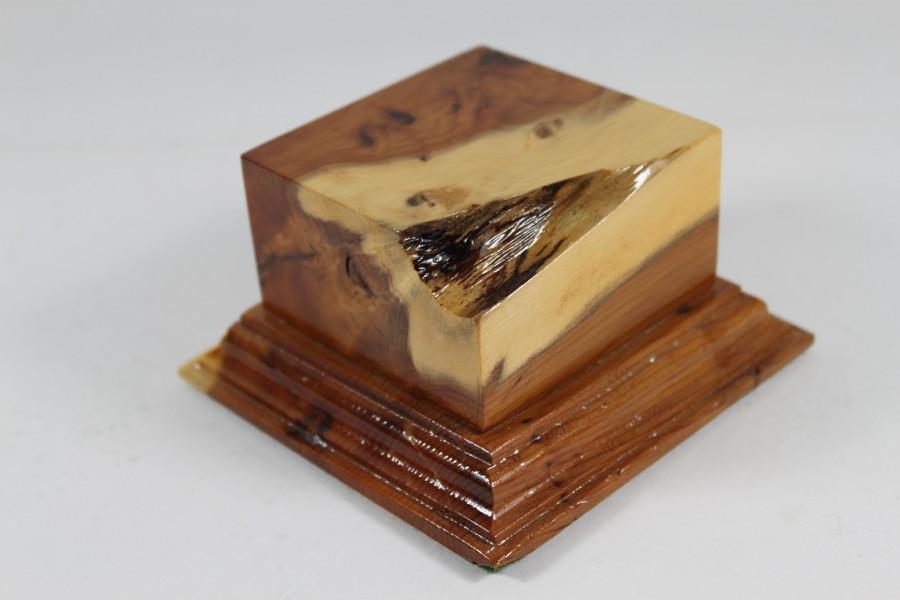 Yew Square Plinth Model Base 70mm x 70mm x 35mm 664