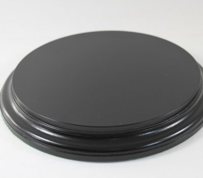 Black Round Base 200mm x 25mm 200007a