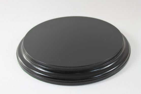 Black Round Base 200mm x 25mm 200007a