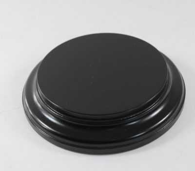 Black Round Base 110mm x 25mm 200007b